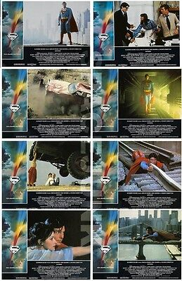 SUPERMAN THE MOVIE (1978) U.S. Lobby Cards Complete Set of 8 (8 x 10 Inches)