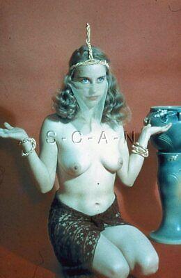 Org Vintage Nude 1950s-60s 35mm Slide / Negative- Endowed Blond Egyptian Goddess