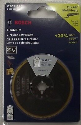 "Bosch OSC212TC 2-1/2"" Titanium Bi-Metal Circular Saw Blade Swiss"