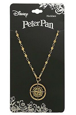 Disney Peter Pan Green Jeweled Compass Pendant Necklace Gift New With Tags!