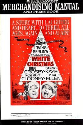 WHITE CHRISTMAS pressbook, Bing Crosby, Rosemary Clooney, Vera Ellen