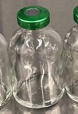 30ml Serum Vial Clear 5 Pack Green