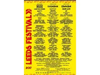 2 Reading Festival and weekend camping tickets with early access passes.