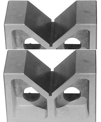 Brand New One Pair 5 Cast Iron V- Blocks 5 X 2 X 3-18