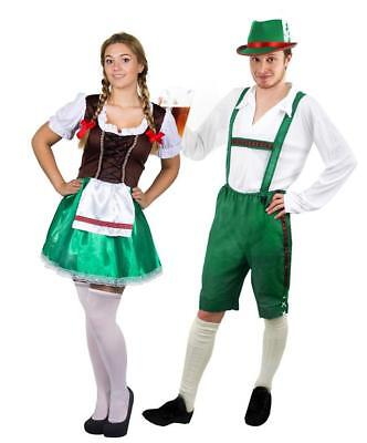 NDL  LEDERHOSEN STIL TIROLER TRACHTEN KARNEVAL ODER BIERFEST (Oktoberfest Paare Kostüme)