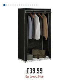 Heavy duty canvas wardrobe can hold up to 50kg