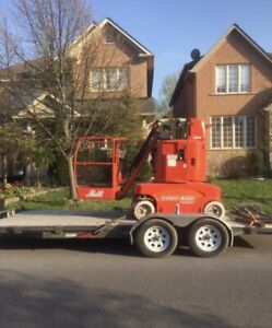TOUCAN 20ft lift   &     18 flatbed trailer