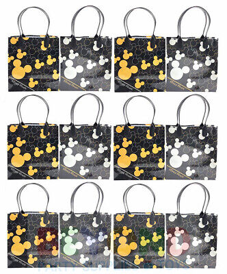 Mickey Gift Bags (Disney Mickey Mouse HEAD Birthday Party Favor Goody Gift Candy Treat Loot Bags)