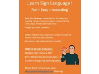 Learn sign language!! Limited spaces available