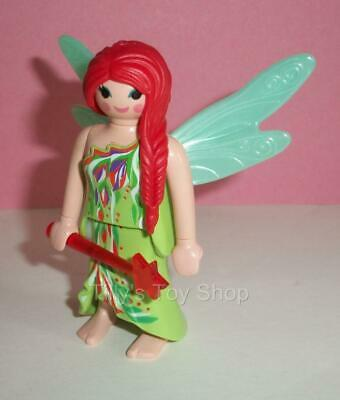 Playmobil   - Fairy Lady with Red Hair & Wand for Magic Castle sets -   NEW