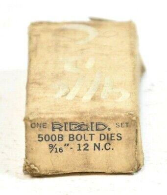 Ridgid 500b Bolt Dies. 916-12 N.c.