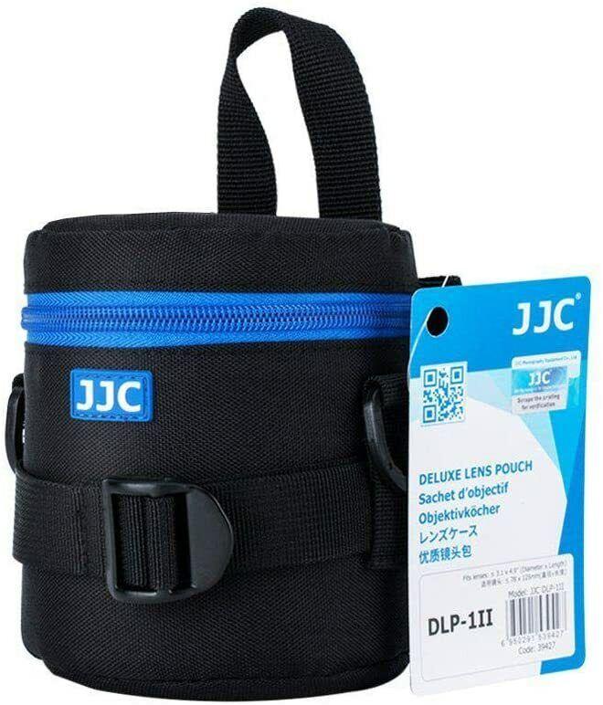 "JJC DLP-1II Small - Water Resistant Lens Pouch w/Shoulder Strap - 3"" Ã x 5"" H"
