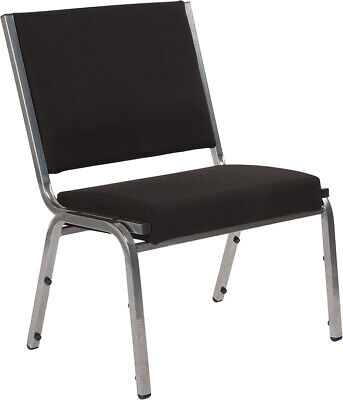 Antimicrobial Black Fabric Reception Office Side Chair - Waiting Room Chair