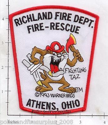 Ohio - Athens - Richland OH Fire Dept Patch Fire Rescue