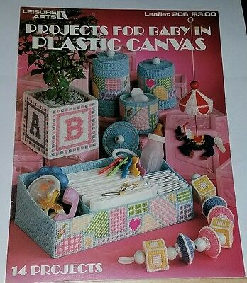 F220 LEISURE ARTS 1981, PROJECTS FOR BABY IN PLASTIC CANVAS ~ 14 PROJECTS - Art Projects For Babies
