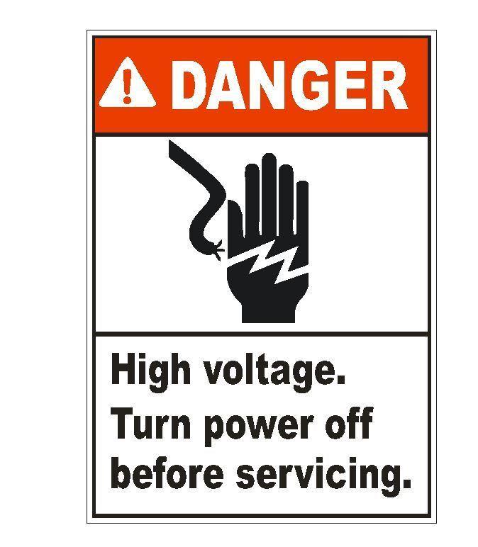 Home Decoration - Danger High Voltage Sticker D1553 Electrical Safety Sign