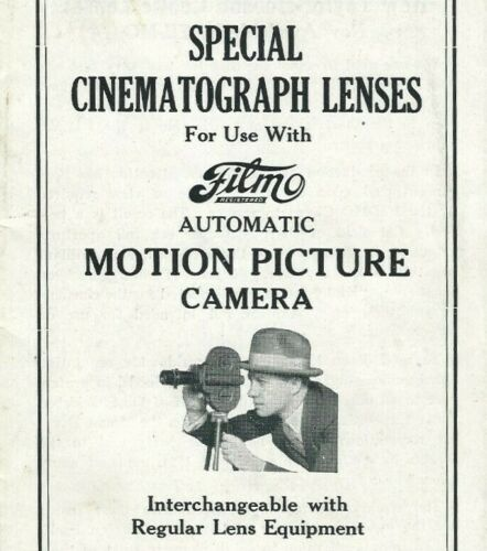 Filmo Motion Picture Camera Special Cinematograph Lenses Bell Howell Chicago Z3
