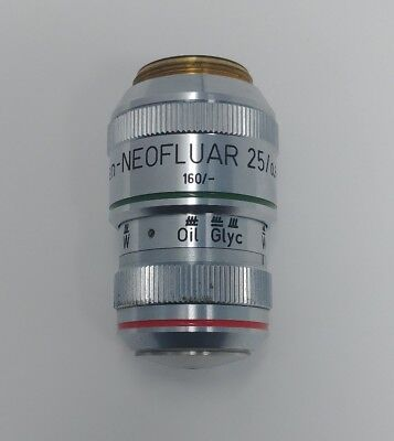 Zeiss Microscope Plan-neofluar 25x 0.8 Immersion Objective Lens