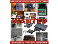 CASH PAID FOR OLD GAMES CONSOLES & GAMES - PS1 - GAMEBOY - SEGA MEGADRIVE - NINTENDO & MORE