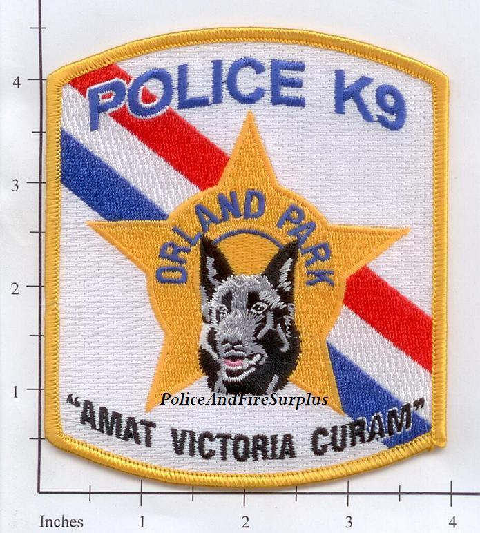 Illinois - Orland Park IL K-9 Police Dept Patch