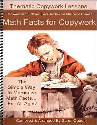 Queen Homeschool Supplies - Math Facts for Copywork - NEW - Math Supplies