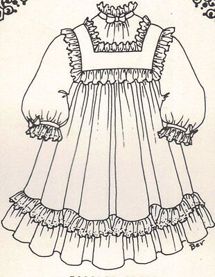 Period DOLL DRESS PATTERN Victorian German French vintage look ** U Pick size