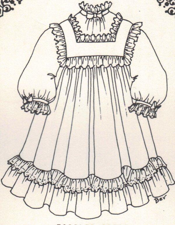 Period DOLL DRESS PATTERN Victorian German French vintage look ** U Pick size