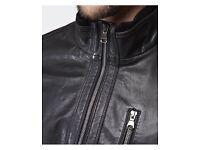 Boss black goat leather Jacket - brand new size 50/L