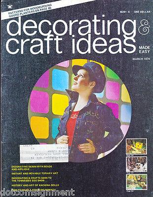 Decorating & Craft Ideas Made Easy Magazine Mar 1974 ~ Multi-Crafts Hip Mod