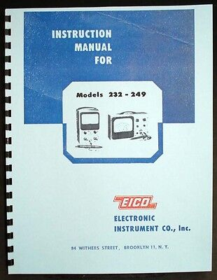 Eico 232 249 Peak-to-peak Vtvm Instruction Manual