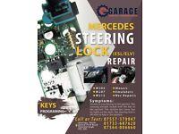 Mercedes steering lock repair service w204 w207 w212