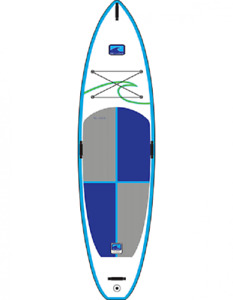 Inflatable Allsport iSUP 10.10 EV Paddle board w carbon paddle.
