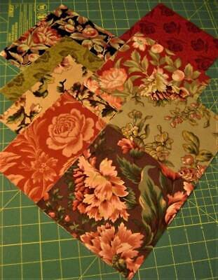 Fall Florals Pack Cotton Fabric ~ 32 6-1/2