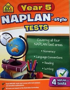 School Zone Year 5 Naplan-Style Tests NEW - Free Postage