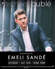 2 Michael buble tickets for sale. Dublin 7th of July 2018