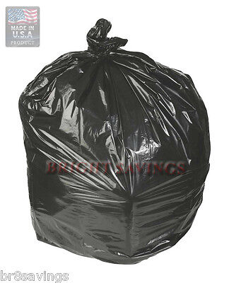 150 ct 55-60 Gallon Trash Can Liners Garbage Bags Black