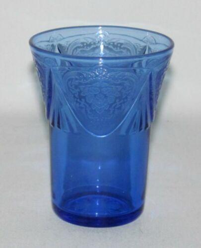 Hazel Atlas Glass Co. ROYAL LACE Cobalt Blue Flat Juice Tumbler