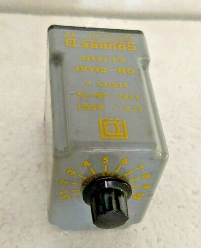 SQUARE D 8501 JS-5S SOLID STATE TIMING RELAY 8 PIN RELAY 0.5-10 sec USA