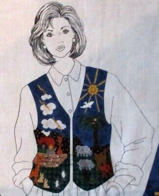 DreamSpinners VIP Vest panel fabric cut & sew Noah's Ark animals  XS-L