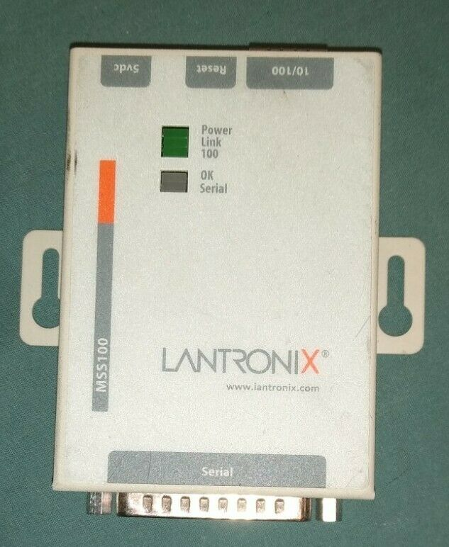 LANTRONIX MSS100-11 MSS DEVICE SERVER NETWORK DISPARATE SERIAL DEVICES