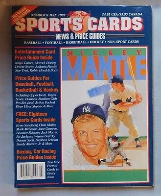 July 1992 Sports Cards News   Price Guide Mickey Mantle Yankees   26 Cards