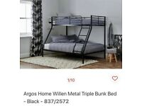 Triple bunk beds, like new - sold