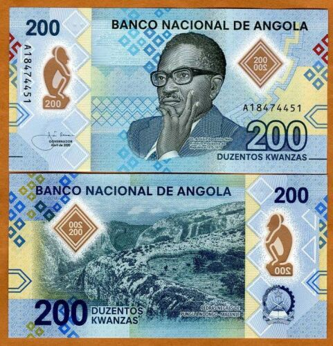 Angola, 200 Kwanzas, 2020, P-New, Polymer UNC > Complete redesign