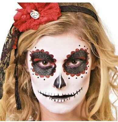 Voodoo Halloween Makeup (Halloween Face Painting Make Up Day of Dead Voodoo Fancy Dress Kit)