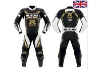 Suzuki one or two piece motorbike Leather Racing suit