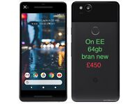 mobile phone bran new not a mark on it it's on EE