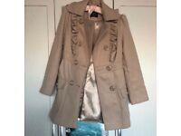 Beige Coat - Size 8