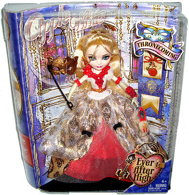 Ever After High Thronecoming Apple White Doll MIB Toy Figure Mattel BJH50/53
