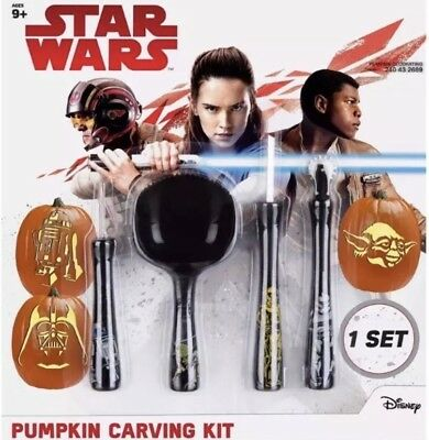 Starwars Pumpkin Carving (New Star Wars Halloween Pumpkin Carving Kit  4 Tools 6 Patterns)