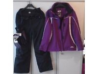 Crane Ladies Ski Wear Jacket / Salopettes / Gloves